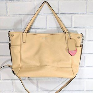 Coach Tan Leather Baby Bag/Diaper
